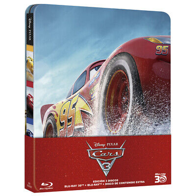 Pelicula Bluray+3D Disney Cars 3 Edicion Metalica Steelbook Precintada