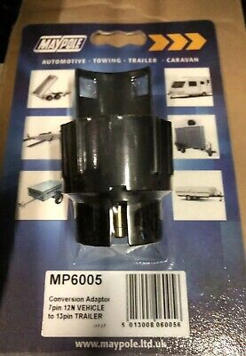 Maypole Conversion Adaptor 7 Pin 12N Vehicle To 13 Pin Trailer - Mp6005B