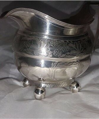 Antique Georgian Irish Provincial solid sterling  silver cream jug, Cork C1810