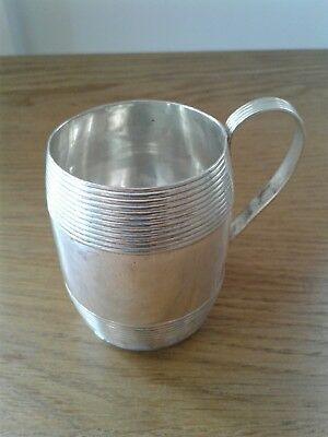 Antique George Iii Solid Sterling Silver Good Quality Mug London 1791