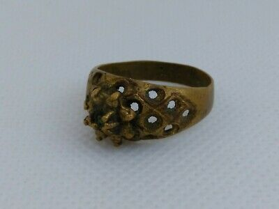 Extremely Ancient Viking Ring Bronze Rare Artifact Stunning Rare Type