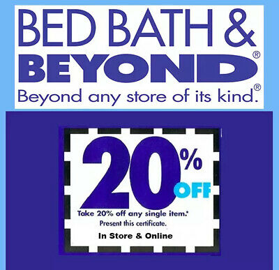 Bed Bath and Beyond  20% Off One Item Coupon * In Store & Online * EXP 11/4