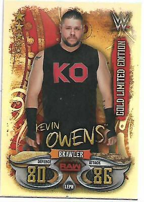 WWE Slam Attax LIVE 2018 Gold Limited Edition LEPH KEVIN OWENS TOPPS 2018