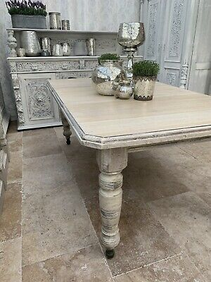 1840 Wind-out Oak  Extendable Antique Dining Table One Leaf