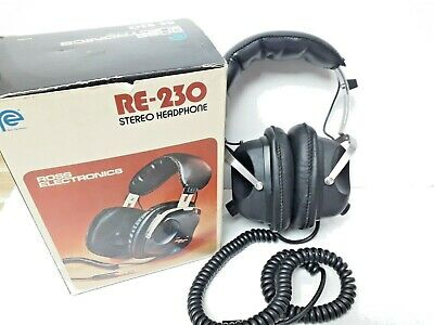 Re-230 Stereo Headphones Vintage Ross Electronics Boxed In Great Condition