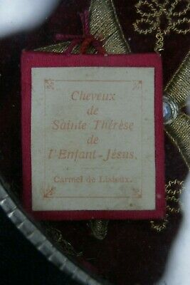 † EX CAPILLIS ST THERESE OF LISIEUX HAIRS CARMELITE RELIQUARY RELIC 1st CLASS †