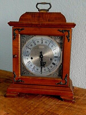 Vintage Hamilton Mantle Carriage Westminster Chime Clock - 340-220 W/ Key Works