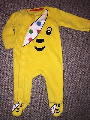 BNWT PUDSEY BEAR FLEECE BABYGROW ALL IN ONE 0-3 MONTHS