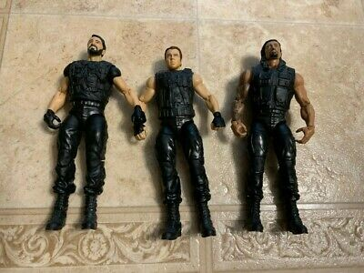 SHIELD WWE Mattel Elite Action Figure Loose Rollins Roman Regins Ambrose lot 3
