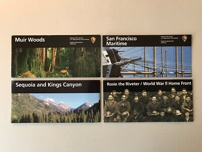 CALIFORNIA Lot of 4 NATIONAL PARK SERVICE BROCHURE MAP Unigrid MUIR WOOD Sequoia