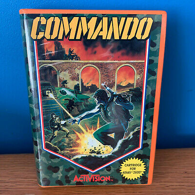 Commando for Atari 2600 Video Game - Cartridge + Box/Case