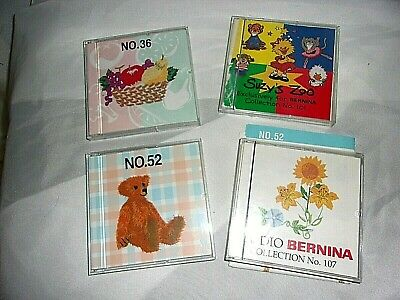 Bernina Sewing Machine Embroidery Cards Lot Of 4 Cartridges