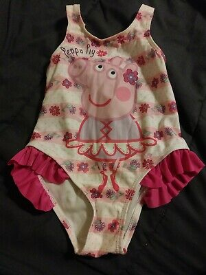 Peppa Pig Girls Swimsuit 2T One-Piece Pink