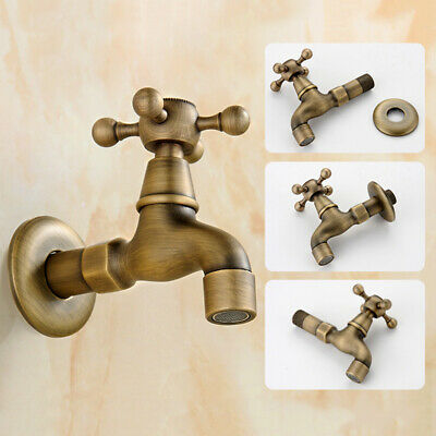 Antique Brass Single Copper Handle Sink Water Tap Wash Basin Faucet for Kitchen
