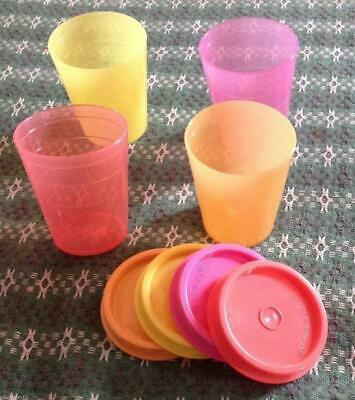 Tupperware Midgets- set of 4- 60ml/2 oz- Multi color- New- Free Shipping