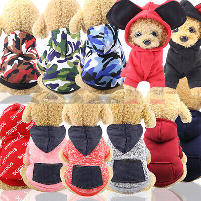 New Cartoon Pet Dog Puppy Winter Warm Hoodie Costume Clothes Jumpsuit Apparel