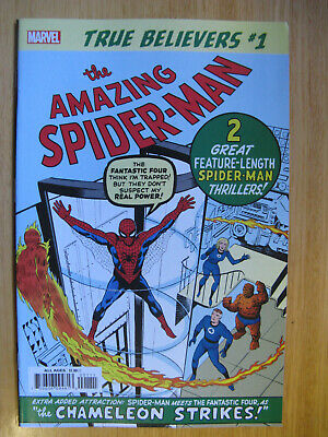 TRUE BELIEVERS, AMAZING SPIDERMAN #1 - 2019. (new with bag/board)