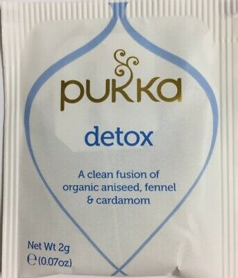 "Pukka Detox Tea 100 Organic Herbal Teabags     ""No Box Included"""