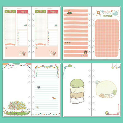 A5/A6 Cartoon Colourful Plan Blank Ruled Diary Insert Refill Schedule Organiser