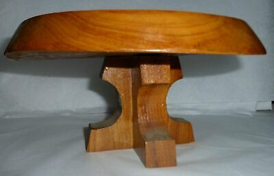 Small Hand Made Wooden Round Table, Pedestal, Stool,Pot Plant Stand (W4)