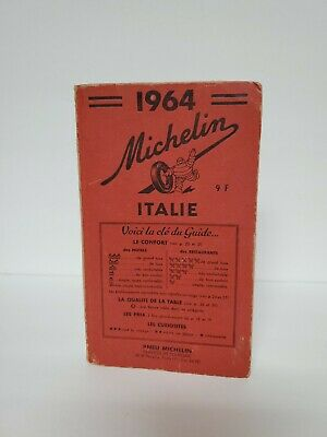 1964 Michelin Road Trip Guide/Book Italie Vintage
