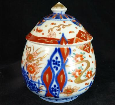 Antique Japanese Imari Meiji Period Gourd Shape Box And Cover
