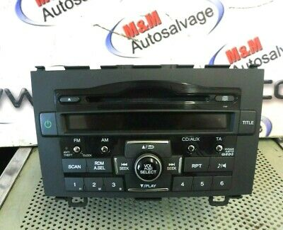 Honda Cr-V Crv Mk3 2006-2011 Cd Radio Player Head Unit 39100-Swa-G102-M1 1Ynf