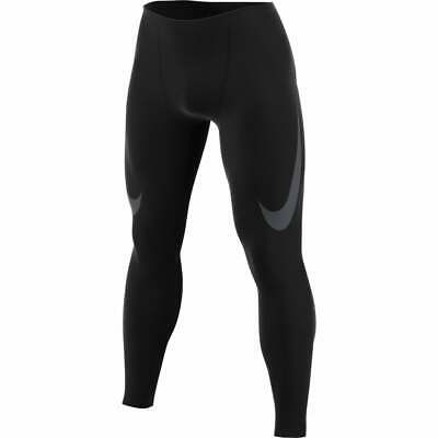 Nike Dri Fit Power Running Training Tights Mens Burgundy Red Size L 857845 652