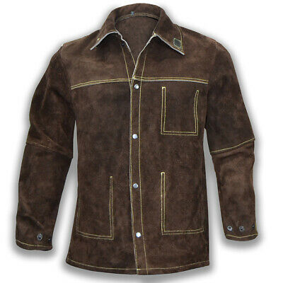 High Quality Cow Sweet Leather Welding Jacket / Tig Mig Welders Safety Jacket