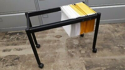 Wheeled portable compact filing unit/trolley for paperwork/documents