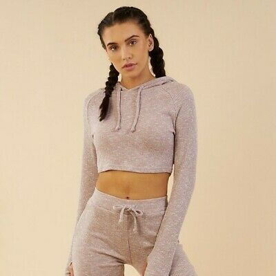 usa cheap sale attractive designs fine craftsmanship GYMSHARK SLOUNGE CROPPED Hoodie Deep Plum Marl Size Small ...