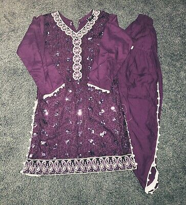 Beautiful Eid Special Occasions Embroidered Salwar Kameez Dress Girls Size 26