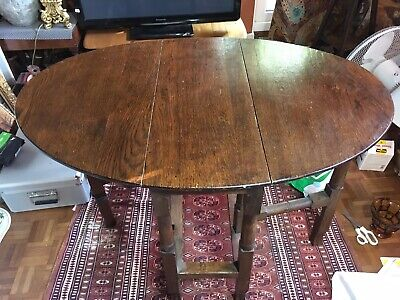 18th/19th C Victorian Georgian Oak Oval Gate Leg Table.