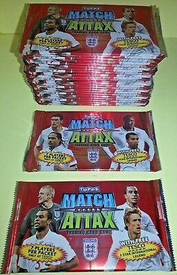 Topps Europe England 2010 Match attax trading cards x 10 sealed packs