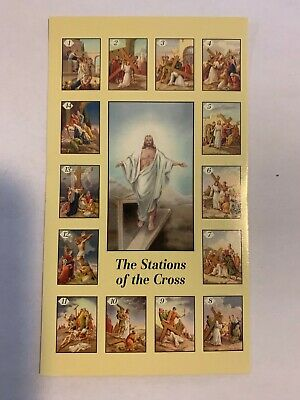 Catholic Holy Prayer Card Stations of the Cross - New Buy 2 get 1 Free