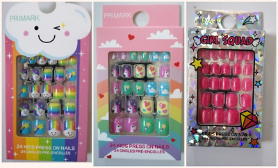 Primark Kids 24 Pack False Stick On Nails