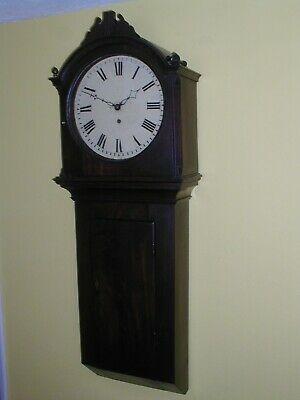 Sunday Sale Bargain Mahogany  Weight Driven Tavern Clock Good Working Order
