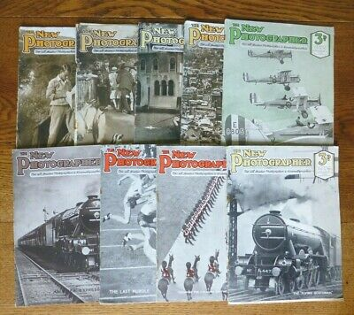 THE NEW PHOTOGRAPHER Magazines. 9 Issues 1928.