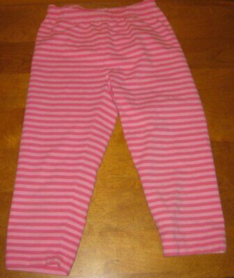 Hanna Andersson Girls Pink Striped Capris 130 7 8 9 10