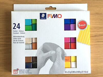 24 x Set Fimo Soft Multicolour Polymer Modeling Bake Clay - Staedtler