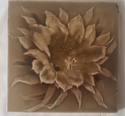 sherwin & cotton photographic type FLORAL 6 INCH 19TH CENTURY TILE