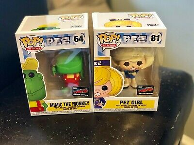 Funko Pop! Pez Girl Mimic the Monkey Set - Official NYCC 2019 Sticker - LE