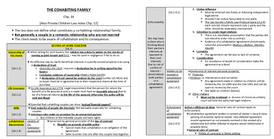 LPC Family Law and Practice Exam Notes 2019 – DISTINCTION LEVEL- 82% obtained in