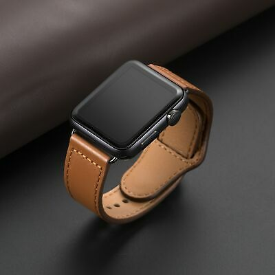 Genuine Leather Watchband Sport Loop for iWatch 5/4/3/2/1 Bracelet Accessories