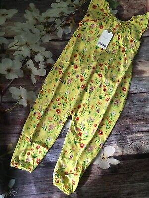 Next Girls Jumpsuit Playsuit Yellow, Floral 2-3 Years BNWT