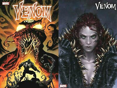 VENOM 19 Hotz  Main Cover +  Jee-Hyung Lee Mary Jane Var  2019 NM+ PRESELL 10/30