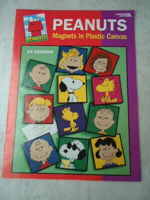 Leisure Arts Leaflet 1837 Peanuts Magnets in Plastic Canvas © 1999