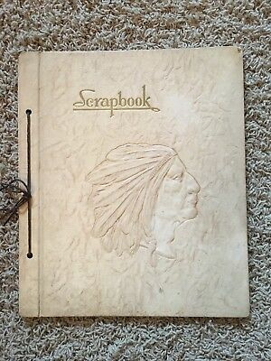 Vintage Indian Chief Head Embossed Scrapbook Cover