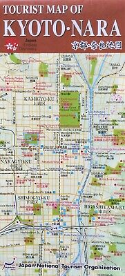 KYOTO - NARA Tourist Map - Transport System Map - Free UK Postage