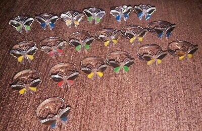 Joblot Butterfly Adjustable One Size Fits All Rings